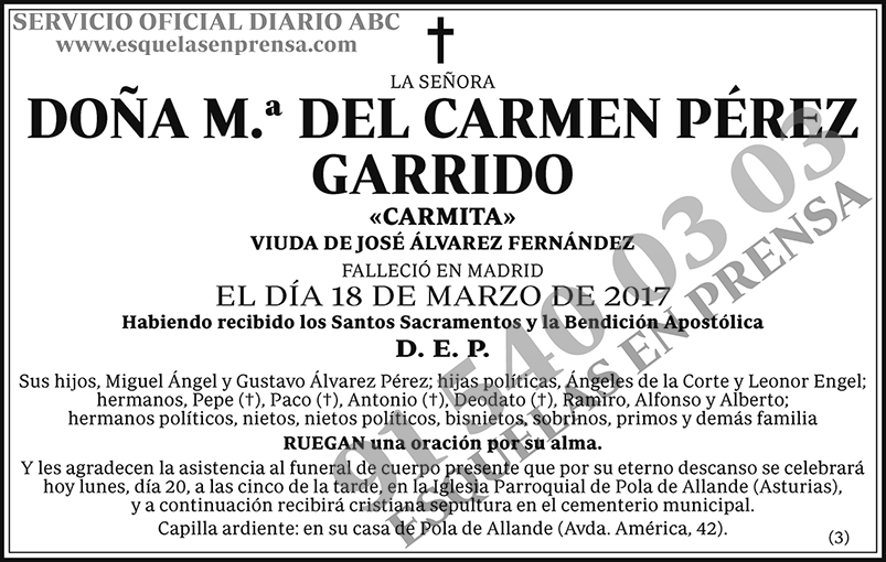 M.ª del Carmen Pérez Garrido
